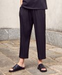 가먼트레이블(GARMENT LABLE) Wide Pleat Pants - Black