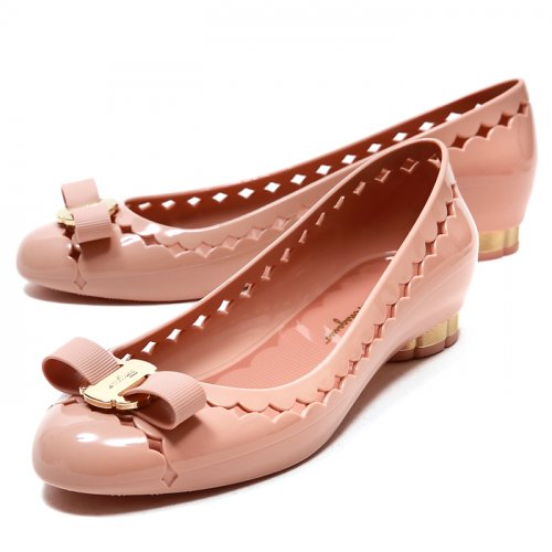 페라가모(SALVATORE FERRAGAMO) JELLY BON BON 686715 여성 플랫슈즈