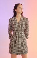 누보텐(NUVO10) gingham check long jacket (dress convertible)
