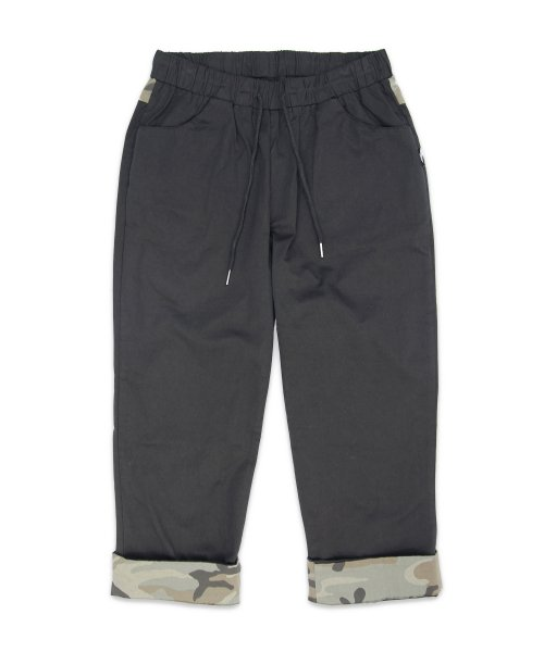 메리먼트(MERRIMENT) (유니섹스) CAMO Roll-up Capri Pants (BLACK)