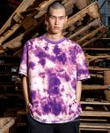 오브젝트(OBJECT) TIE DYE REVERSIBLE OVERSIZED T-SHIRT (PURPLE)