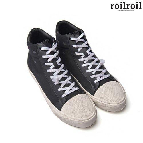 로일로일(ROILROIL) Destroyed Sneakers High - BLACK (UNISEX)