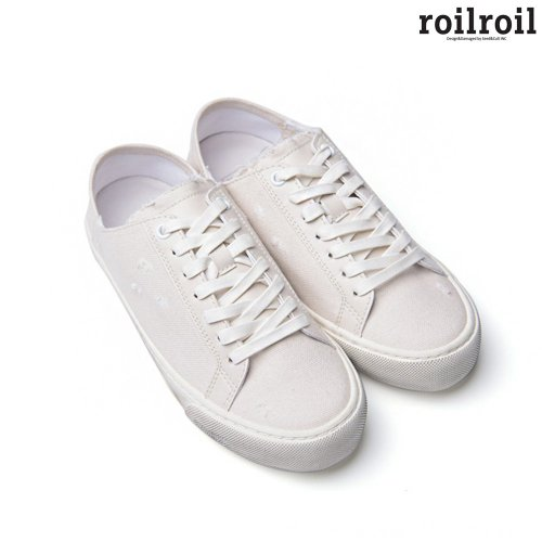 로일로일(ROILROIL) Destroyed Sneakers Fold - WHITE (UNISEX)