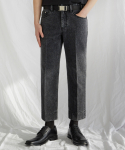 가먼트레이블(GARMENT LABLE) [7차 리오더]Garment Worker Stitch Jeans / Tapered (Black Tan)
