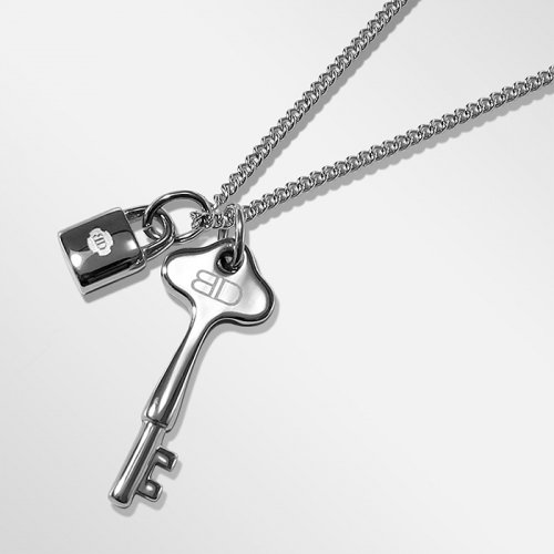 블렌도프(BLENDOFF) Mini Lock & Hotel Key Necklace [Silver]