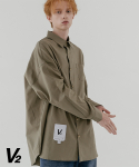 브이투(V2) Overfit color shirt_khaki