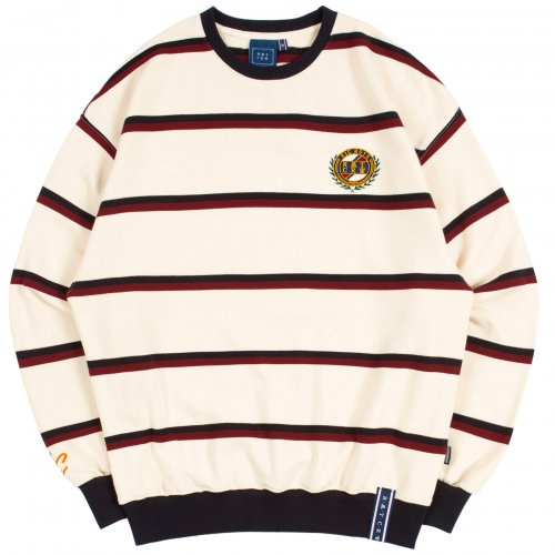 로맨틱크라운(ROMANTIC CROWN) 21C BOYS STRIPED SWEATSHIRT_OATMEAL
