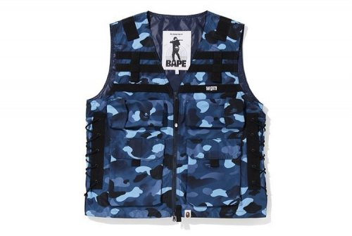 베이프(BAPE) GRADATION CAMO LACE UP VEST