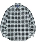 디스이즈네버댓(THISISNEVERTHAT) ARC-Logo African Check Shirt Black