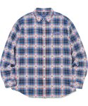 디스이즈네버댓(THISISNEVERTHAT) ARC-Logo African Check Shirt Blue