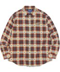 디스이즈네버댓(THISISNEVERTHAT) ARC-Logo African Check Shirt Red