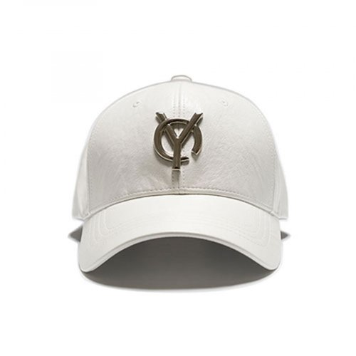 오와이(OY) LOGO LEATHER CAP - WHITE