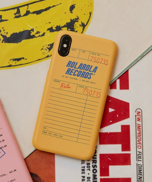 로라로라(ROLAROLA) (PC-19508) RECEIPT PHONE CASE MUSTARD