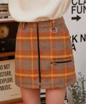 로라로라(ROLAROLA) (SK-19741) ZIPPER CHECK SKIRT MUSTARD