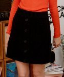 로라로라(ROLAROLA) (SK-19531) BUTTON KNIT SKIRT BLACK