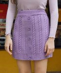 로라로라() (SK-19531) BUTTON KNIT SKIRT LAVENDER