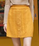 로라로라(ROLAROLA) (SK-19531) BUTTON KNIT SKIRT MUSTARD