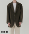 Overfit two button coat jacket_khaki