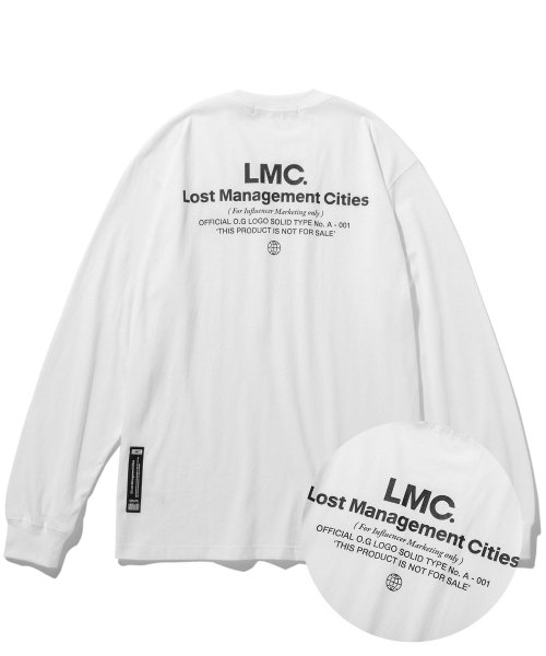 엘엠씨(LMC) LMC INFLUENCER LONG SLV TEE white