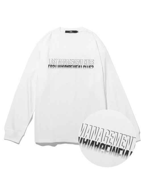 엘엠씨(LMC) LMC SHADOW FN LONG SLV TEE white