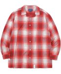 디스이즈네버댓(THISISNEVERTHAT) Cut-Off Check Shirt Red