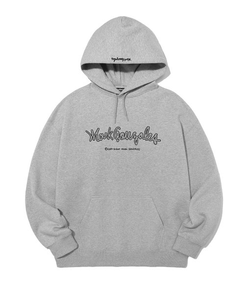마크 곤잘레스(MARK GONZALES) M/G EMBROIDERY LOGO HOODIE GREY