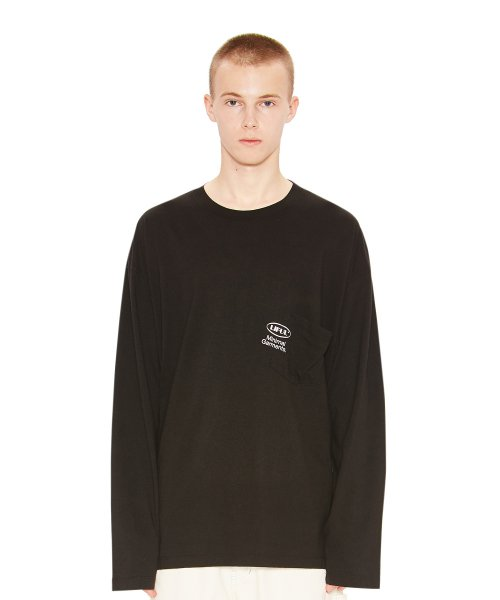 라이풀(LIFUL) OVAL POCKET LONG SLEEVE TEE black