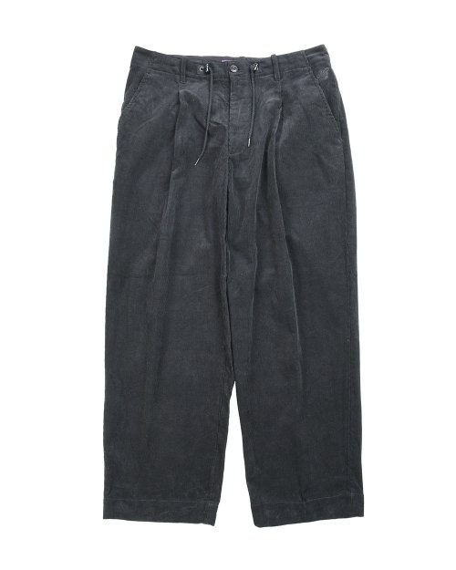비슬로우 퍼플(BESLOW PURPLE) 19FW VENTI CORDUROY BALLOON PANTS BLACK