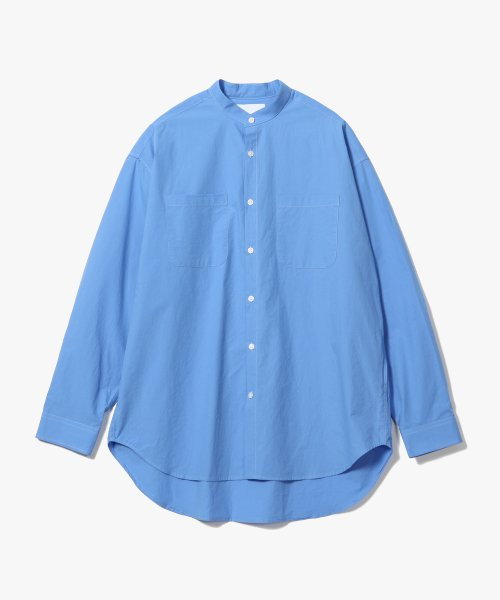 제로(XERO) Banded Collar Long Shirts [Sax Blue]