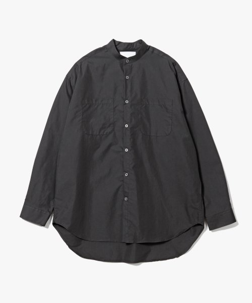 제로(XERO) Banded Collar Long Shirts [Charcoal]
