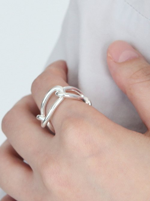 멕코이(MCCOII) BOLD CHAIN RING