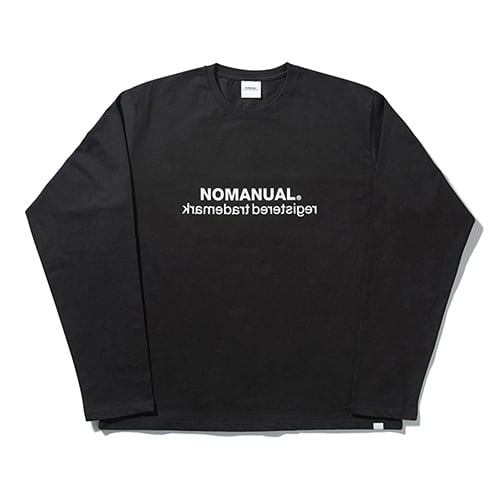 노매뉴얼(NOMANUAL) BIG LOGO LONG SLEEVE TEE - BLACK
