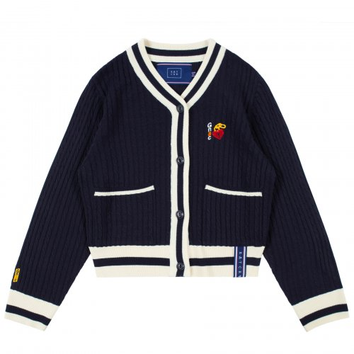 로맨틱크라운(ROMANTIC CROWN) UNLOCK YOUR MIND CARDIGAN_NAVY