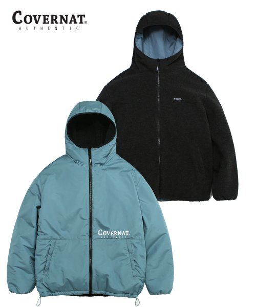 커버낫(COVERNAT) REVERSIBLE FLEECE WARM UP JACKET CH/BL