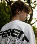 [UNISEX] DIFFERENT LETTERED SWEAT SHIRT WHITE