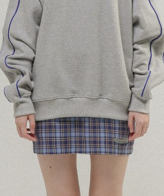 타게토(TARGETTO) TGT CHECK SKIRT_SKY BLUE