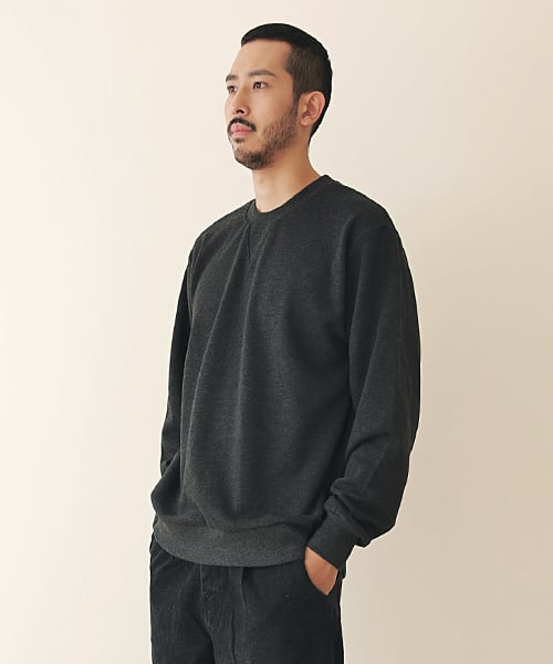 엠오오(MOO) Minimal Sweatshirt Dark gray
