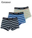 커버낫(COVERNAT) MULTI STRIPE 3PACK DRAWERS BLUE/ORANGE/NAVY
