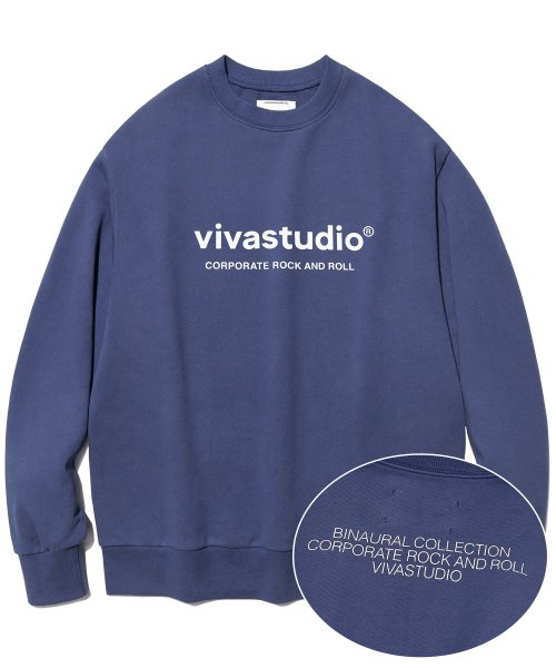 비바스튜디오(VIVASTUDIO) BINAURAL CREWNECK IA [SOFT BLUE]