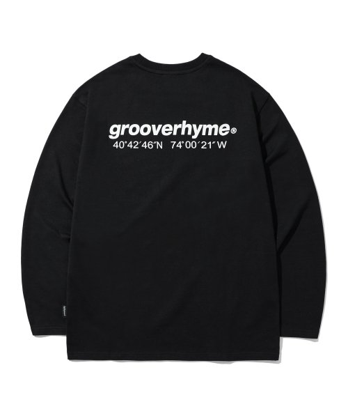 그루브라임(GROOVE RHYME) NYC LOCATION LONG SLEEVE T-SHIRTS (BLACK) [GLT601H33BKA]