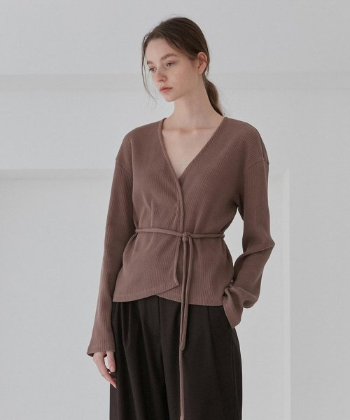 커렌트(CURRENT) WRAP CARDIGANS WOMEN [BROWN]