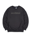 스컬프터(SCULPTOR) Retro Outline Sweatshirt [CHARCOAL]