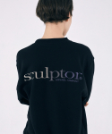 스컬프터(SCULPTOR) (normal)[Unisex]Gradation Retro Sweatshirt [BLACK]