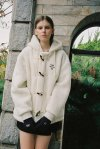 SHEEP WOOL DUFFLE HOOD JACKET (WHITE)