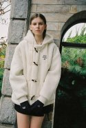 너트앤볼트(NUTANDBOLT) SHEEP WOOL DUFFLE HOOD JACKET (WHITE)
