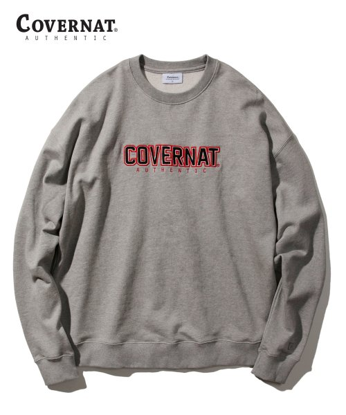 커버낫(COVERNAT) EMBROIDERY JERSEY LOGO CREWNECK GRAY