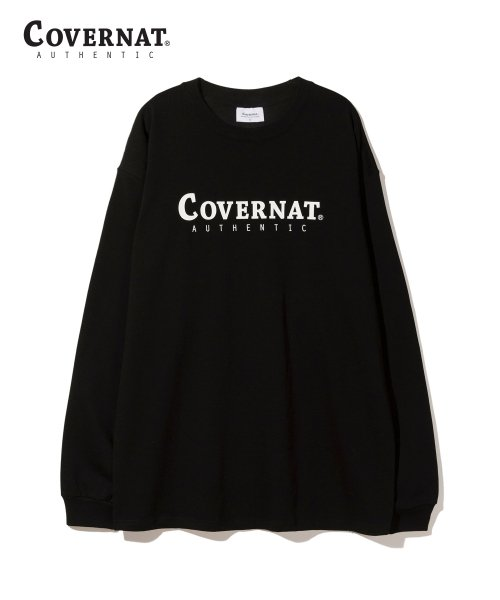 커버낫(COVERNAT) L/S AUTHENTIC LOGO TEE BLACK