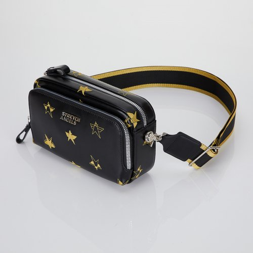 스트레치 엔젤스(STRETCH ANGELS) [파니니백]Twinkle PANINI bag (Black/gold)