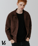 브이투(V2) Overfit suede jacket_brown