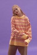블론드나인(BLOND9) Stripe Knit Sweater_YELLOW
